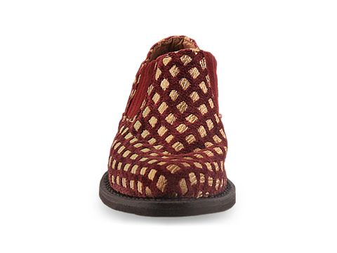 Jeffrey Campbell In Burgundy Gold Checker Arizona