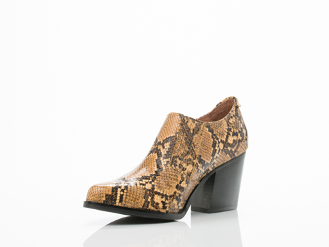 Jeffrey Campbell In Beige Brown Snake Aston