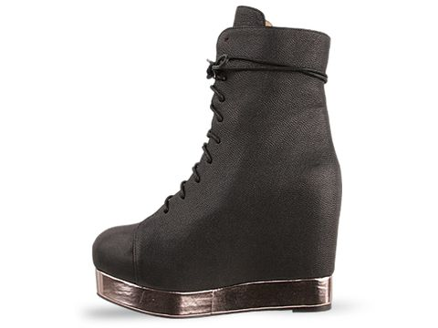 Jeffrey Campbell In Black Silver Back Off