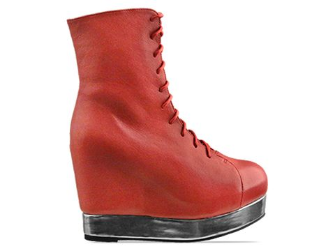 Jeffrey Campbell In Dark Red Silver Back Off