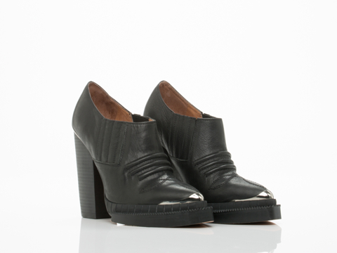 Jeffrey Campbell In Black Washed Silver Banjo Metal
