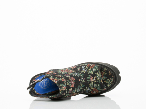 Jeffrey Campbell In Black Tapestry Barclay Fabric