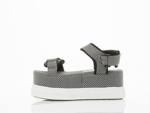 Jeffrey Campbell In Black White Mesh White Bateau