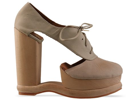 Jeffrey Campbell In Natural Beige Benched
