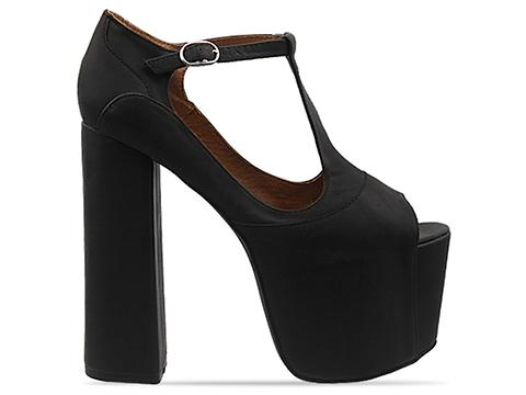 Jeffrey Campbell In Black Washed Big Foxy