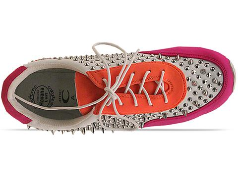 Jeffrey Campbell In Fuchsia Orange White Billie Spike