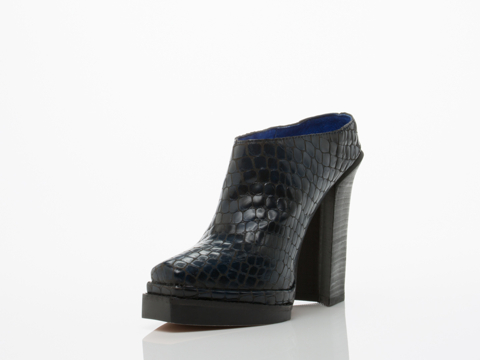 Jeffrey Campbell In Blue Croco Bingham V Heel