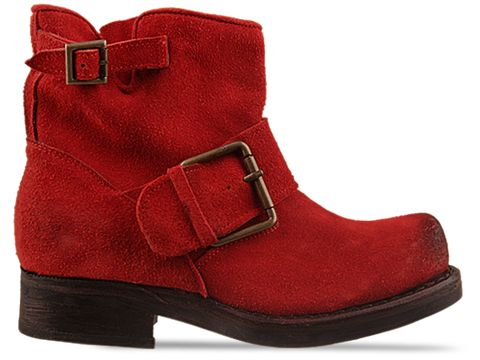 Jeffrey Campbell In Red Suede Blush