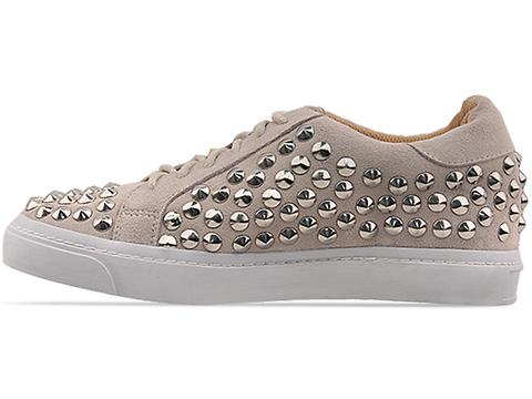 Jeffrey Campbell In Nude Suede Silver Bolo Stud