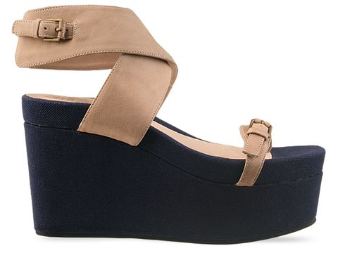 Jeffrey Campbell In Beige Blue Boomer