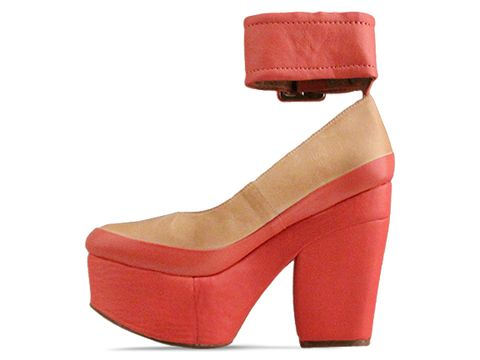 Jeffrey Campbell In Nude Coral Boop D Doo Leather