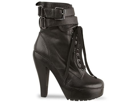 Jeffrey Campbell In Black Calf Boot Camp
