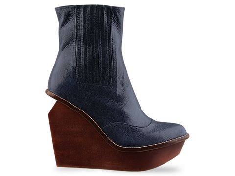 Jeffrey Campbell In Navy Leather Brisbane