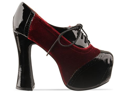 Jeffrey Campbell In Black Patent Wine Velvet Bronte
