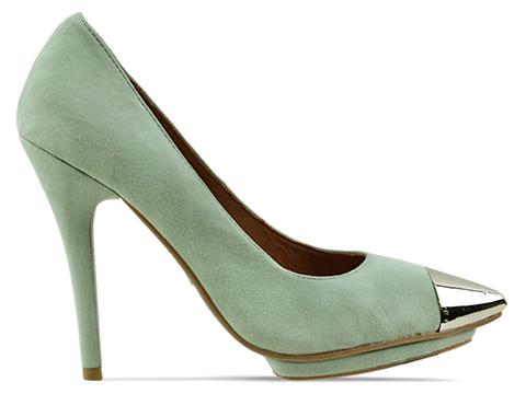 Jeffrey CampbellPastel Green Suede Silver