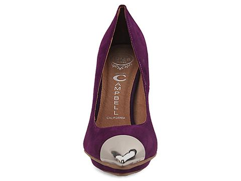 Jeffrey Campbell In Purple Suede Silver Bullet