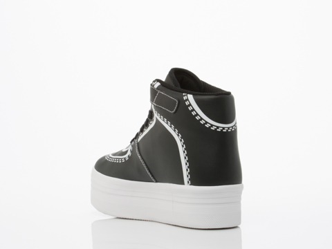 Jeffrey Campbell In Black White Cartoon
