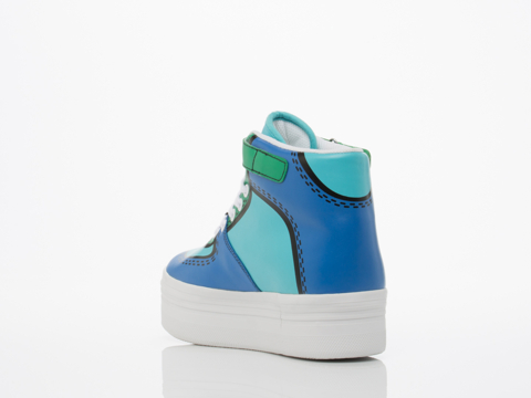 Jeffrey Campbell In Blue Combo Cartoon