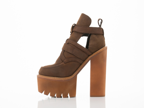 Jeffrey Campbell In Brown Crazy Horse Cassius