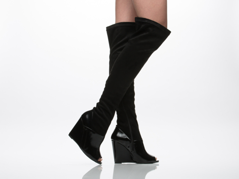 Jeffrey Campbell In Black Box Black Suede Chastity