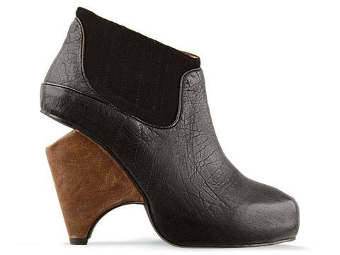 Jeffrey Campbell In Black Leather Christie