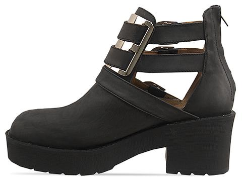 Jeffrey Campbell In Black Washed Silver Clarkson