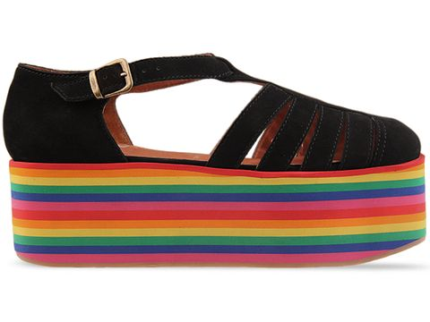 Jeffrey Campbell In Black Rainbow Claussen