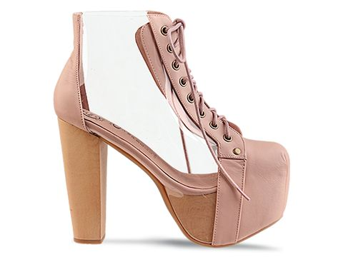 Jeffrey Campbell In Nude Clear Cleata