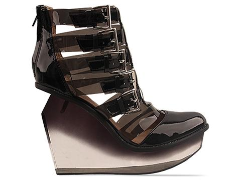 Jeffrey Campbell In Charcoal Clinic Clear
