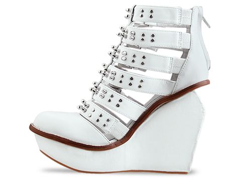 Jeffrey Campbell In White Silver Clinic Stud