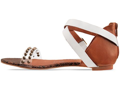 Jeffrey Campbell In White Tan Coast Spike