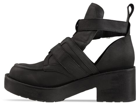 Jeffrey Campbell In Black Distressed Coltrane