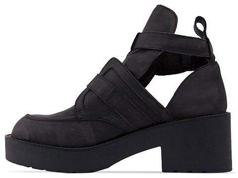 Jeffrey Campbell In Black Distressed Black Coltrane