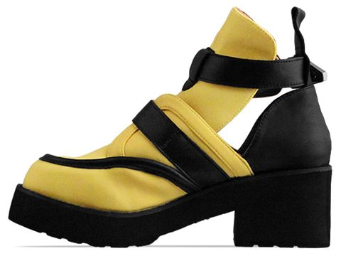 Jeffrey Campbell In Mustard Neoprene Black Coltrane