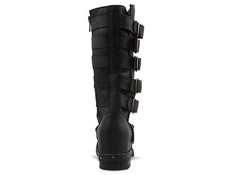 Jeffrey Campbell In Black Distressed Conceal