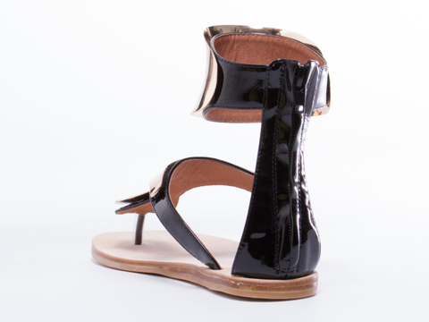 Jeffrey Campbell In Black Patent Gold Congo