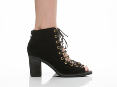 Jeffrey Campbell In Black Suede Cors