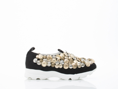 Jeffrey Campbell In Black Suede Multi Crusin Button