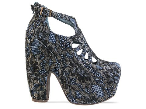 Jeffrey Campbell In Black Blue Gold Lace Cuffed