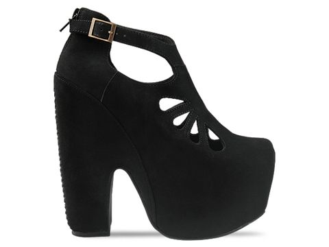 Jeffrey Campbell In Black Nubuck Cuffed