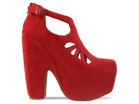 Jeffrey Campbell In Red Nubuck Cuffed