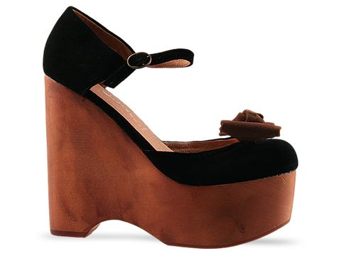 Jeffrey Campbell In Black Brown Suede Daisy D