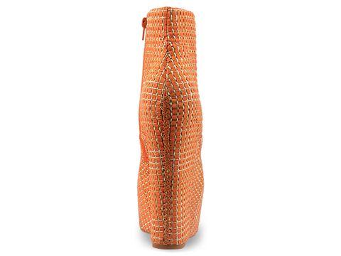 Jeffrey Campbell In Orange Weave Damsel