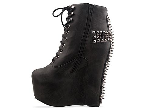 Jeffrey Campbell In Black Pewter Damsel CRS
