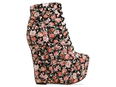 Jeffrey Campbell In Red Black Floral Fab Damsel Floral