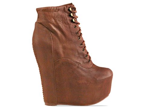 Jeffrey Campbell In Brown Distressed Damsel Leather