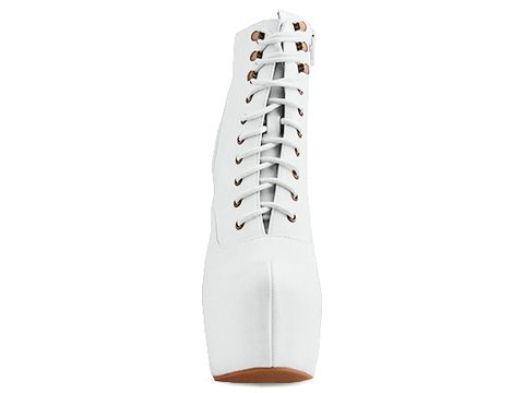 Jeffrey Campbell In White Damsel Leather