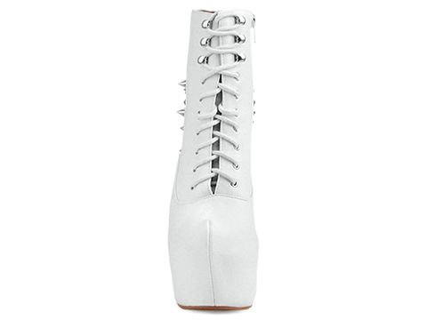 Jeffrey Campbell In White Silver Damsel Spike