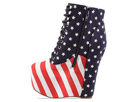Jeffrey Campbell In Stars And Stripes Damsel Stars And Stripes