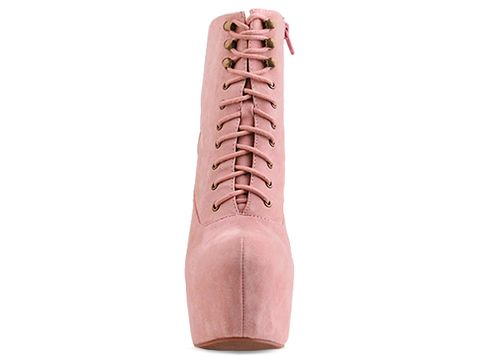 Jeffrey Campbell In Baby Pink Damsel Suede